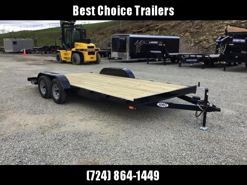 2018 AMO 7x18' Wood Deck Car Trailer 7000# GVW * FREE SPARE TIRE * CLEARANCE