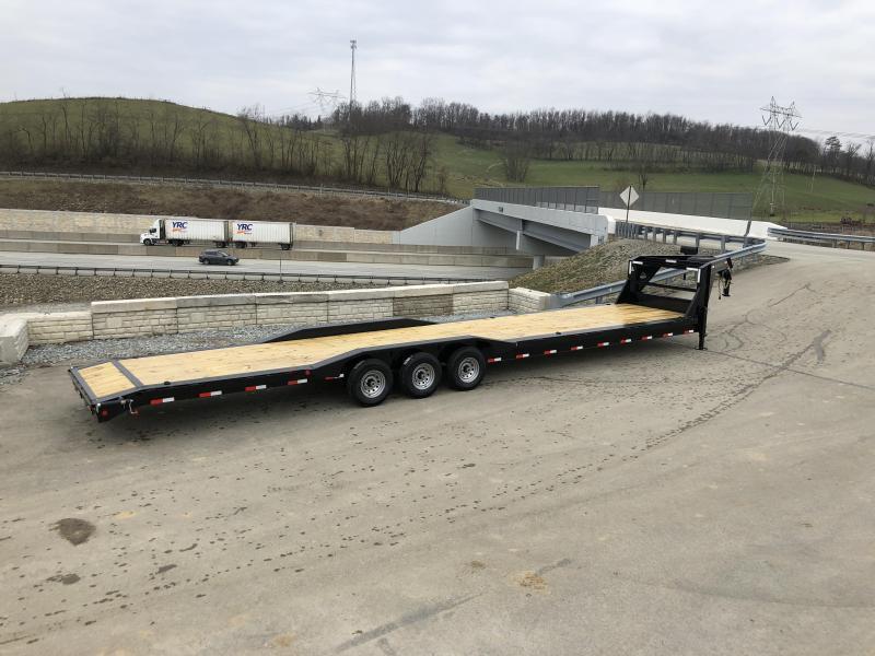 """2019 Ironbull 102x40' Gooseneck Car Hauler Equipment Trailer 21000# * 102"""" DECK * DRIVE OVER FENDERS * 4' DOVETAIL"""