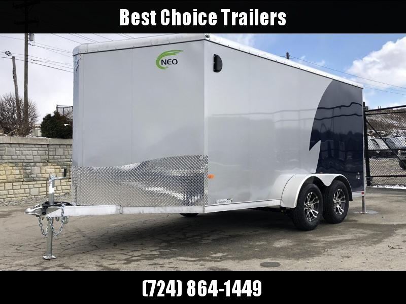 "2019 NEO Trailers 7X12' NAMR Aluminum Enclosed Motorcycle Trailer * INDIGO & SILVER * VINYL WALLS * ALUMINUM WHEELS * +6"" HEIGHT in Ashburn, VA"