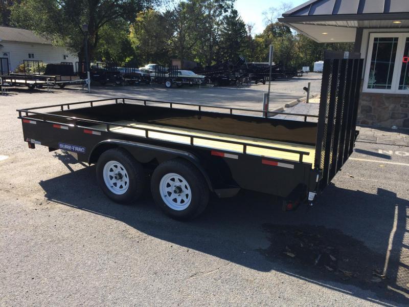 2019 Sure-Trac 7x16' Steel High Side Utility Trailer 7000# GVW