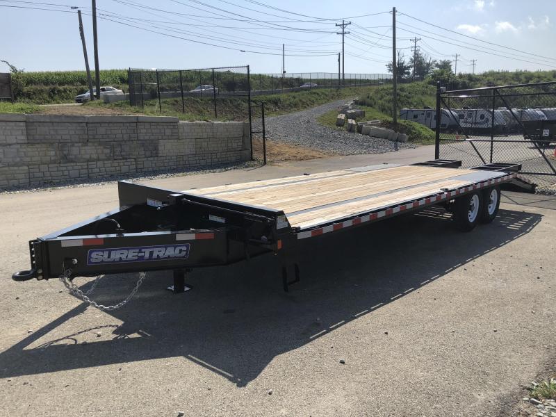 2018 Sure-Trac 102x20+5' Beavertail Deckover Trailer 15000# GVW * CLEARANCE - FREE ALUMINUM WHEELS