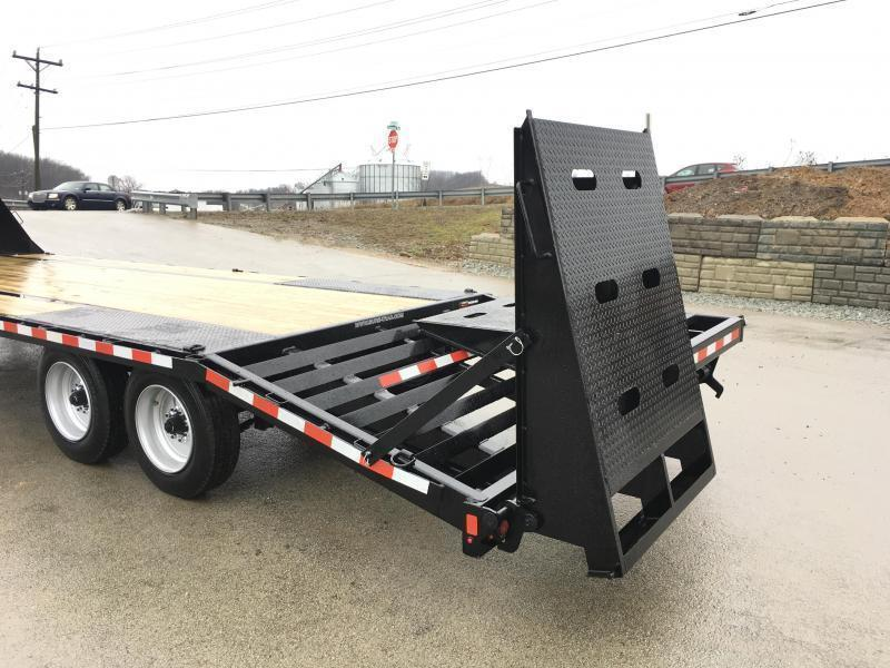 2019 Sure-Trac 102x20+5 17600# Gooseneck Beavertail Deckover Trailer * 8000# AXLE UPGRADE * PIERCED FRAME * FULL WIDTH RAMPS