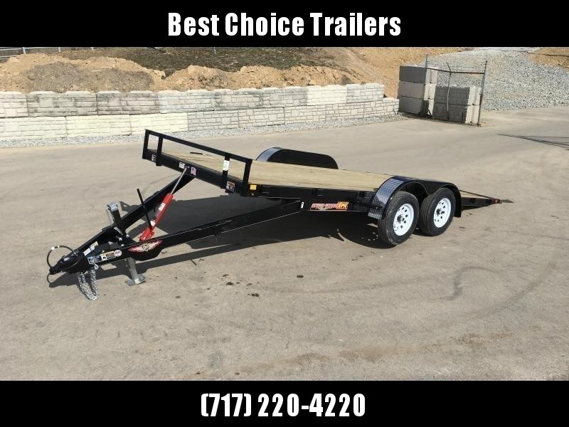2018 H&H 7x20' MX Manual Tilt Car Hauler 7000# GVW * CLEARANCE - FREE ALUMINUM WHEELS