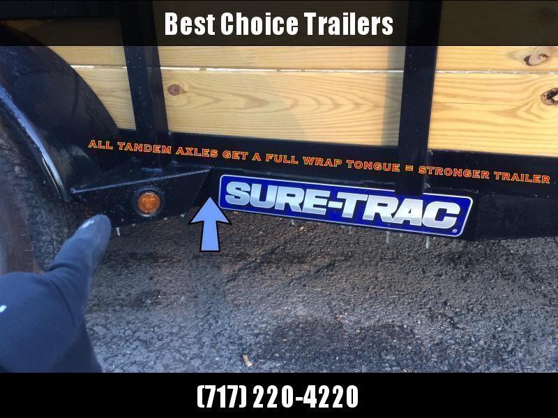 USED 2018 Sure-Trac 5x10' Tube Top 3-Board High Side Utility Landscape Trailer 2990# GVW * ALUMINUM WHEELS * ALUMINUM SPARE * TOOLBOX