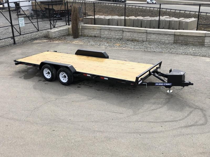 2019 Sure Trac 7x20' 9900# POWER Tilt Car Trailer * ST8220CHWPT-B-100