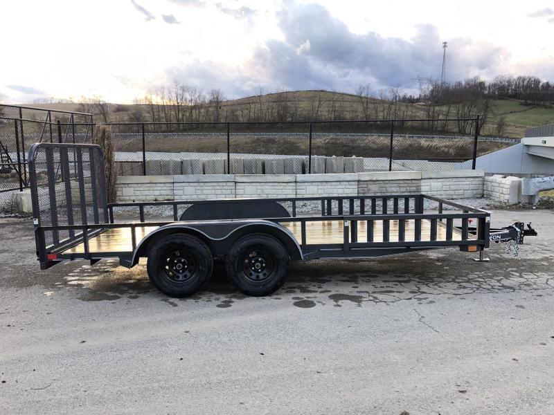 2019 X-On 7x16' Utility Landscape Trailer 7000# GVW * ATV RAMPS * CHARCOAL
