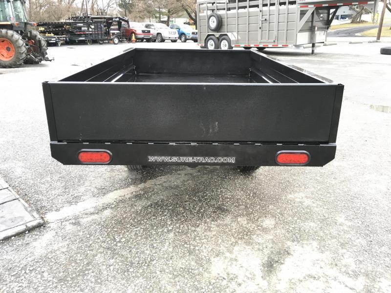 2018 Sure-Trac 4.5x8 Utility Dump Trailer 2990# GVW w Ramps * CLEARANCE - FREE SPARE