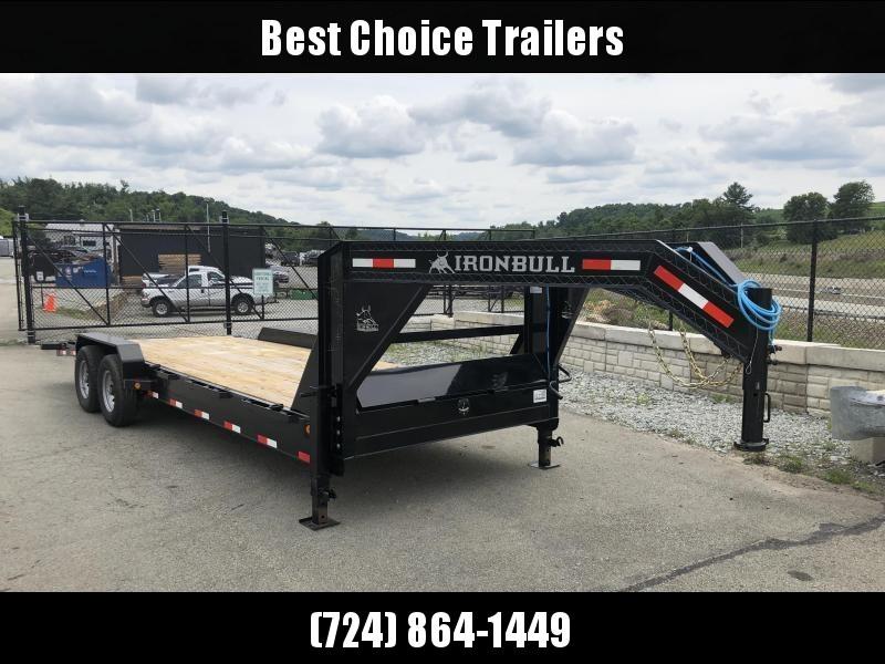 2018 Ironbull 7x26' Gooseneck Car Hauler Equipment Trailer 14000# * WINCH PLATE * CLEARANCE - FREE ALUMINUM WHEELS in Ashburn, VA