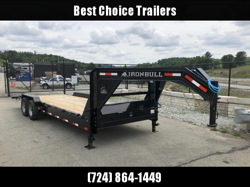 2018 Ironbull 7x26' Gooseneck Car Hauler Equipment Trailer 14000# * WINCH PLATE * CLEARANCE - FREE ALUMINUM WHEELS