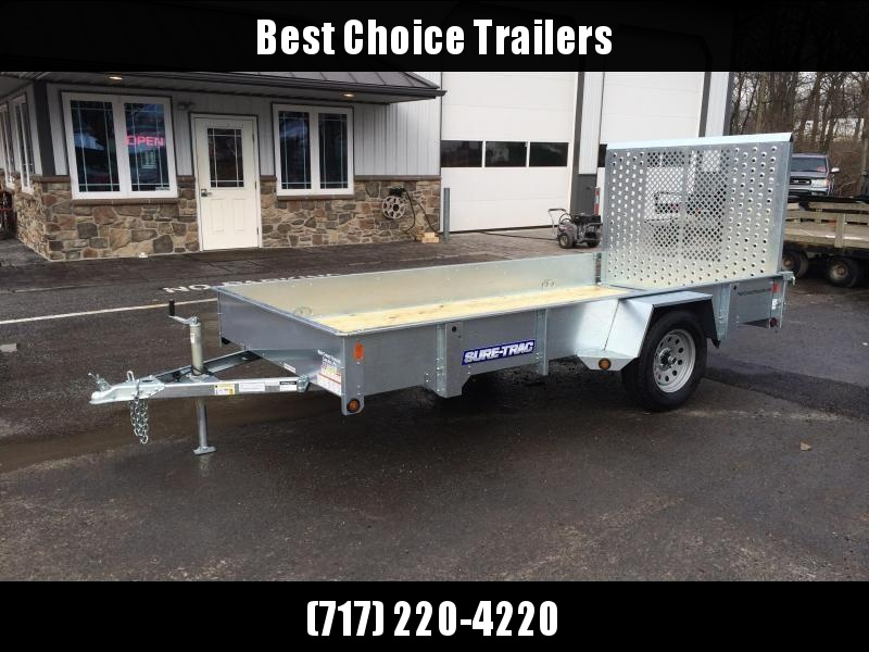 2018 Sure-Trac 6x10' Galvanized High Side Landscape Utility Trailer 2990# GVW * FREE SPARE TIRE
