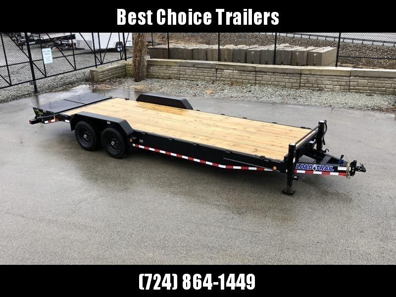 "2019 Load Trail 102x24' Equipment Trailer 14000# GVW * 102"" DECK * DRIVE OVER FENDERS * 8"" TONGUE & FRAME * DUAL JACKS * FULL WIDTH MAX RAMPS * RUBRAIL * DEXTER'S * 2-3-2 * POWDER PRIMER"
