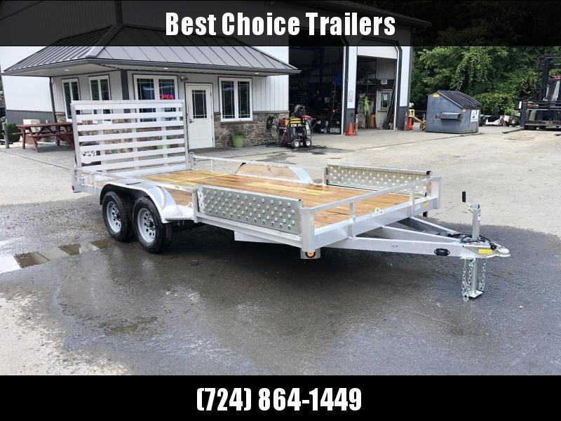 2020 QSA 7x16' Aluminum Utility Trailer 7000# GVW * ATV SIDE RAMPS