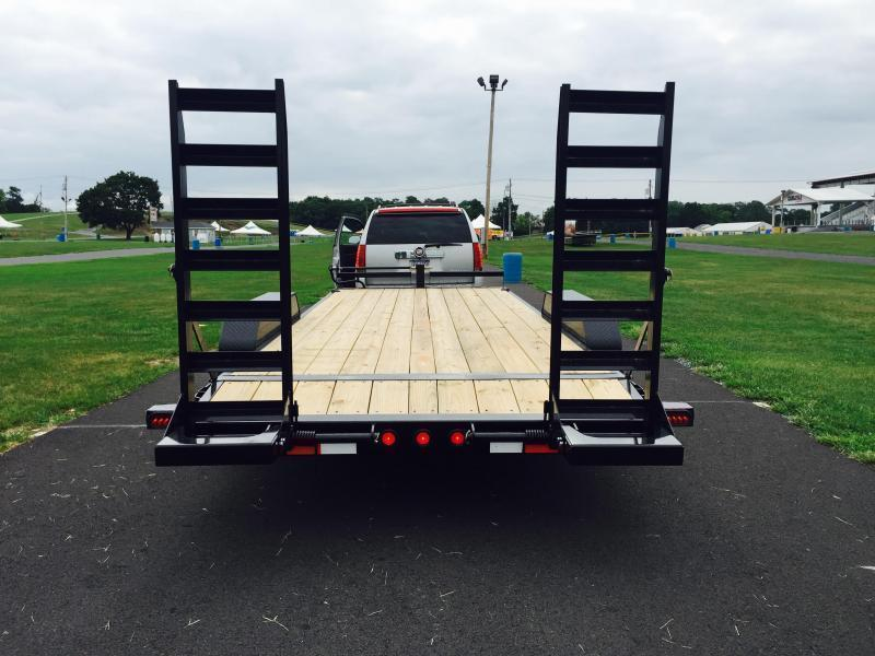 2019 Ironbull 7X20' Equipment Trailer 14000# GVW Stand Up Ramps