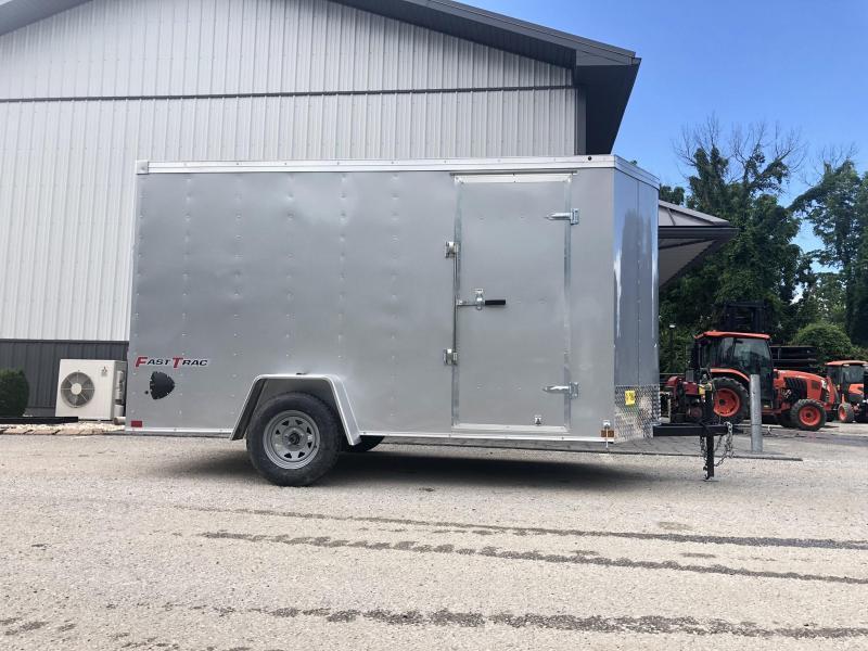"2019 Wells Cargo 6x12' Fastrac DELUXE Enclosed Cargo Trailer 2990# GVW * WHITE EXTERIOR * RAMP DOOR * .030 EXTERIOR * 1PC ALUM ROOF * 6'6"" HEIGHT * TUBE STUDS * 16"" O.C WALLS"