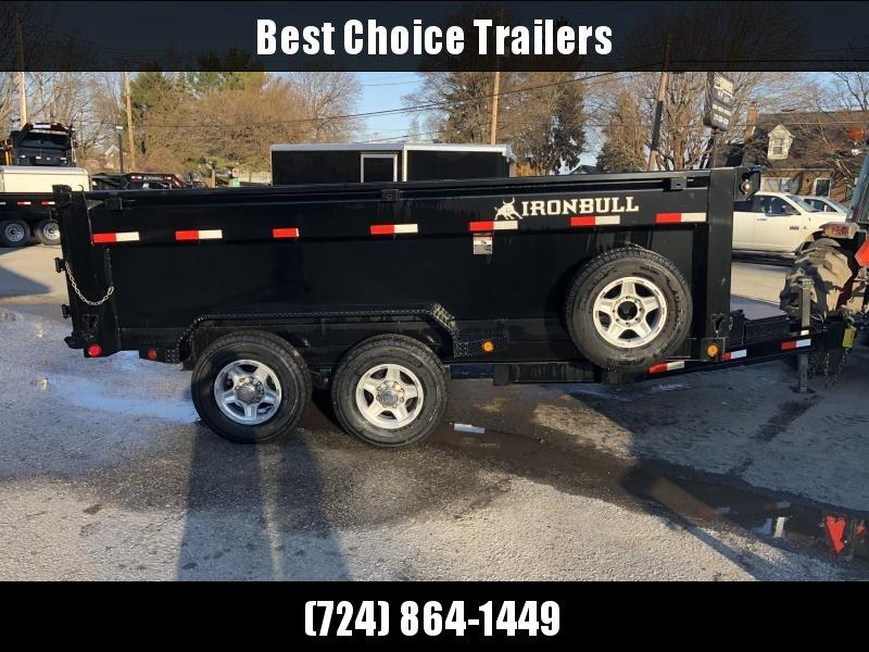 2018 Ironbull 7x14' 3' HIGH SIDES Dump Trailer 14000# GVW RAMPS * TARP * SCISSOR * CLEARANCE - FREE ALUMINUM WHEELS in Ashburn, VA