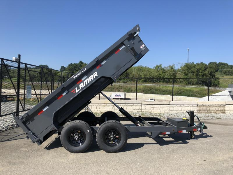 2018 Lamar DM 77x12' 9990# Low Profile Dump Trailer * 12K JACK * TARP KIT * ADJUSTABLE COUPLER * CHARCOAL * SPREADER GATE