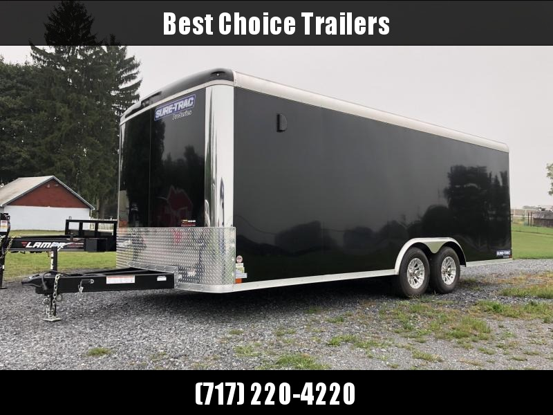 2019 Sure-Trac 8.5x20' 9900# STRCH Commercial Enclosed Car Hauler * ROUND TOP * BLACK * SCREWLESS EXTERIOR