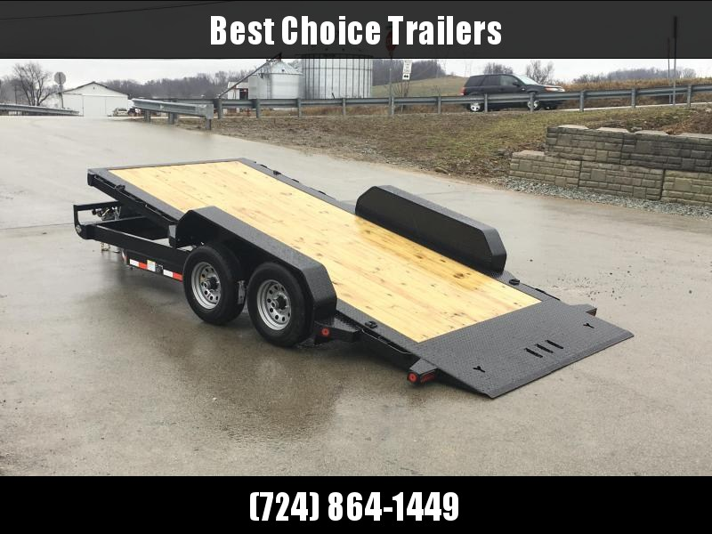 2018 Iron Bull 7x16' Equipment Trailer 9990# GVW - POWER TILT * TORSION