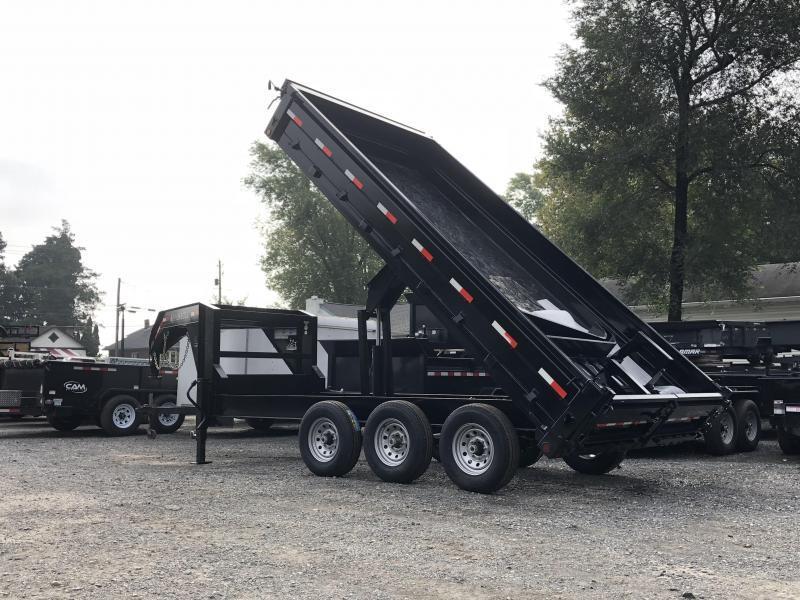 2019 Ironbull Gooseneck Deckover Dump Trailer 8x16' 21000# GVW * TARP KIT * TRIPLE AXLE