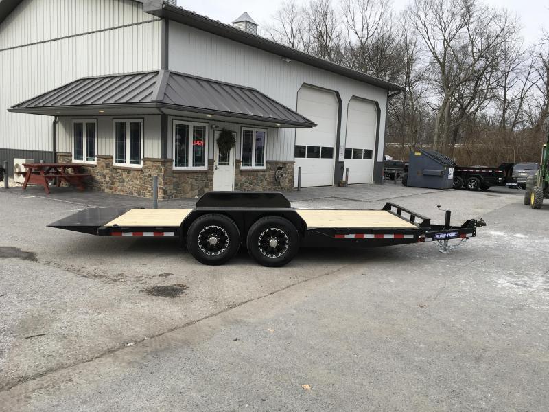 2018 Sure-Trac Tilt Bed Equipment Trailer 7'x18' 14000# * CLEARANCE - FREE ALUMINUM WHEELS