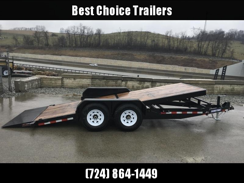 2018 Sure-Trac Tilt Bed Equipment Trailer 7'x18' 14000# * CLEARANCE - FREE ALUMINUM WHEELS