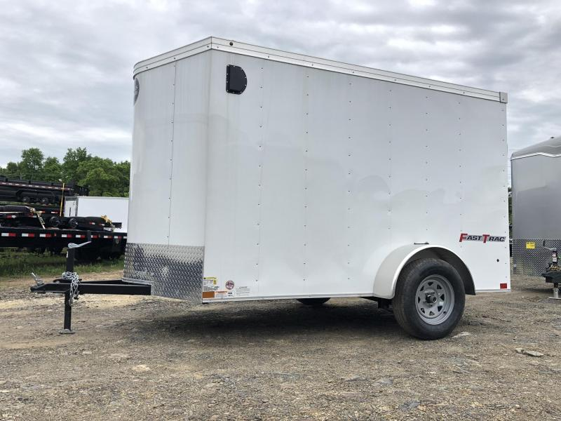 2019 Wells Cargo 6x10' Fastrac Enclosed Cargo Trailer 2990# GVW * WHITE EXTERIOR * RAMP DOOR