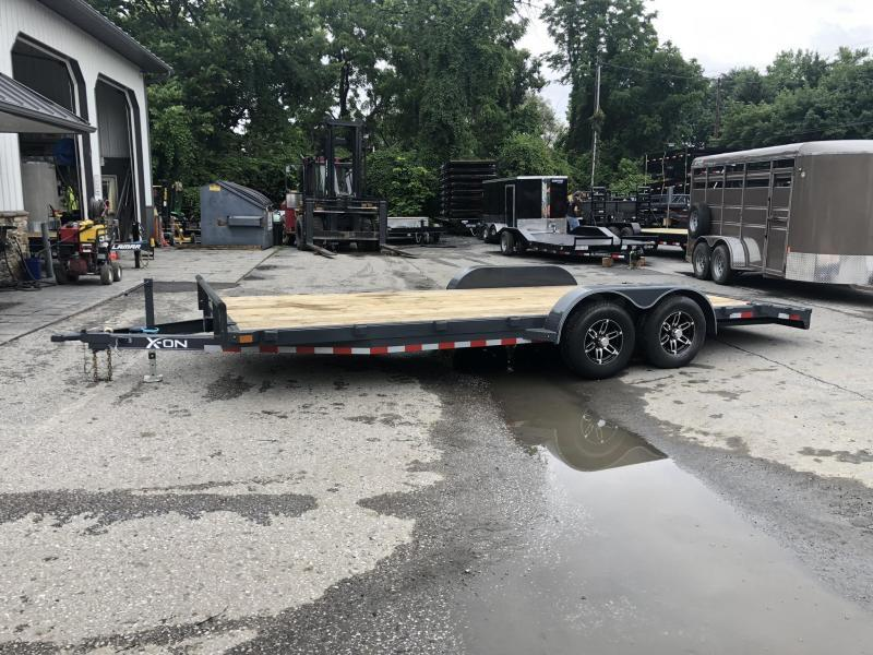 2019 X-On 7x20' Car Hauler Trailer 9990# GVW * CHARCOAL
