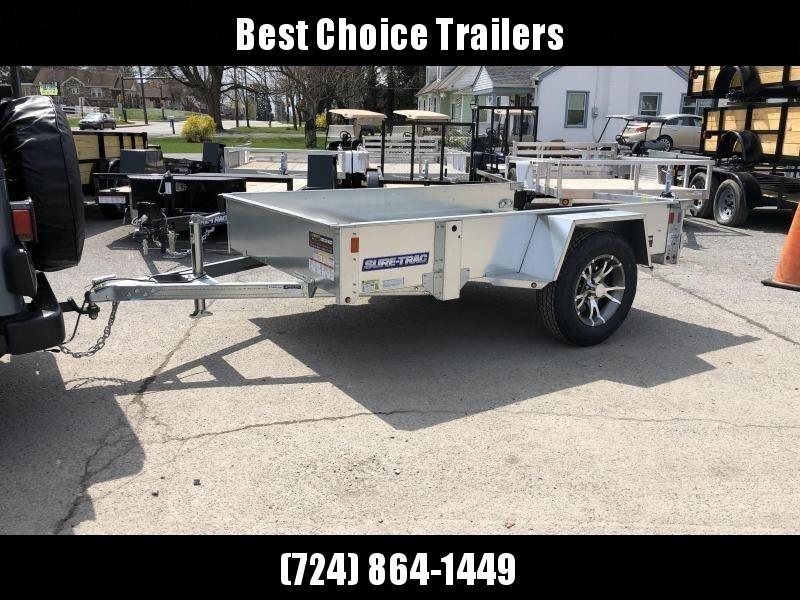 2019 Sure-Trac 5x10' Galvanized High Side Utility Trailer 2990# GVW * CLEARANCE - FREE ALUMINUM WHEELS in Ashburn, VA