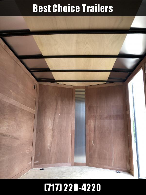 2019 Wells Cargo 7x14' Fastrac DELUXE Enclosed Cargo Trailer 7000# GVW * WHITE * BARN DOORS * V-NOSE