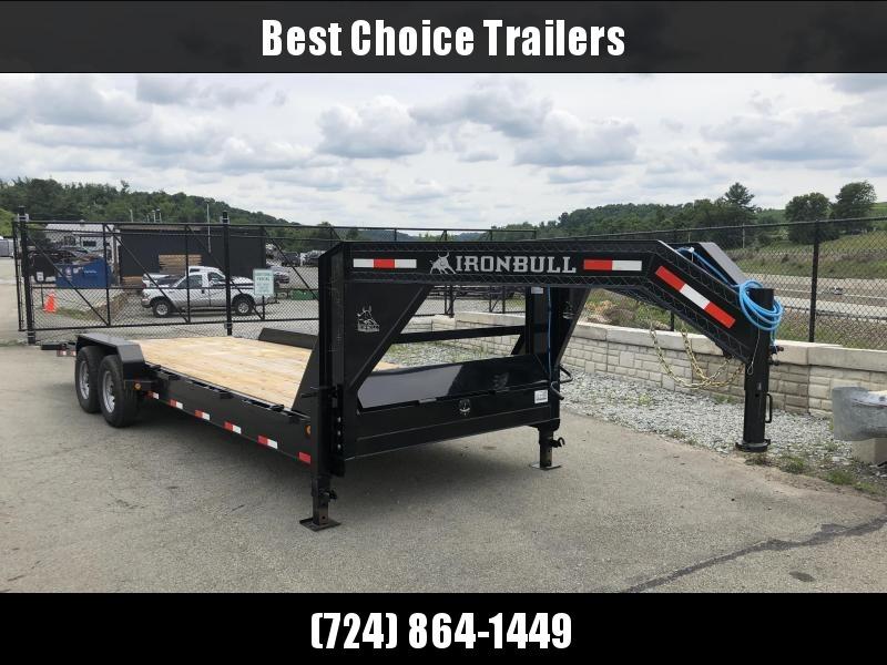 2018 Ironbull 7x24' Gooseneck Car Hauler Equipment Trailer 14000# * WINCH PLATE