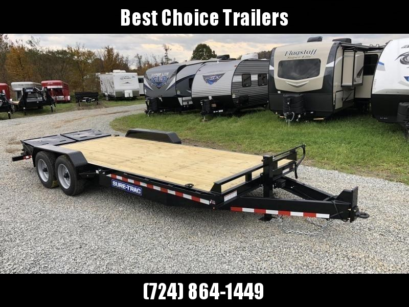 "2019 Sure-Trac 7x17+3' Equipment Trailer 16000# GVW - UNIVERSAL RAMPS * 8000# AXLE UPGRADE * 17.5"" RUBBER * 8"" FRAME UPGRADE * HD COUPLER"
