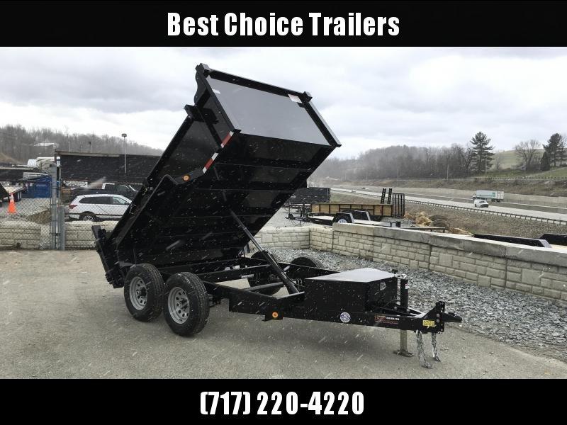 2019 QSA 6x10' Low Profile SD Dump Trailer 9850# GVW * 2' HIGH SIDES * OVERSIZE TOOLBOX * DROP LEG JACK * FRONT/REAR/ BULKHEAD * FREE ALUMINUM WHEELS in Ashburn, VA