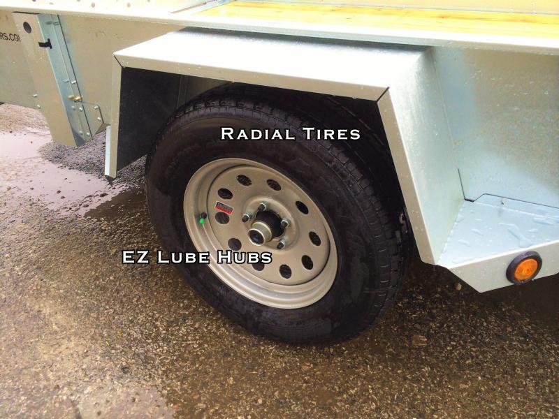 2020 Sure-Trac 6x12' Galvanized High Side Utility Trailer 2990# GVW