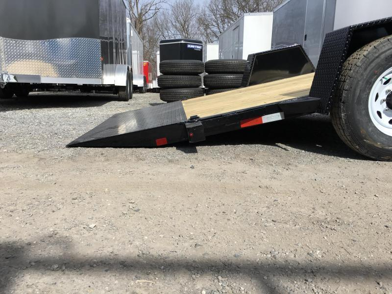 "2019 Sure-Trac 78""x12' 7000# GVW Tilt Equipment Trailer Scissor Hauler * OAK DECK"