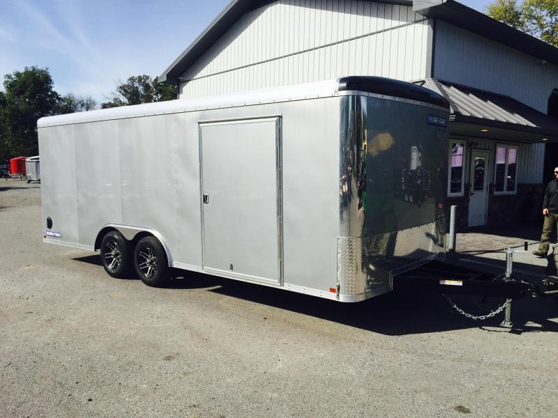 2019 Sure-Trac 8.5x20' 9900# STRCH Commercial Enclosed Cargo Trailer * ROUND TOP * RAMP DOOR  * SILVER * 7K DROP LEG JACK