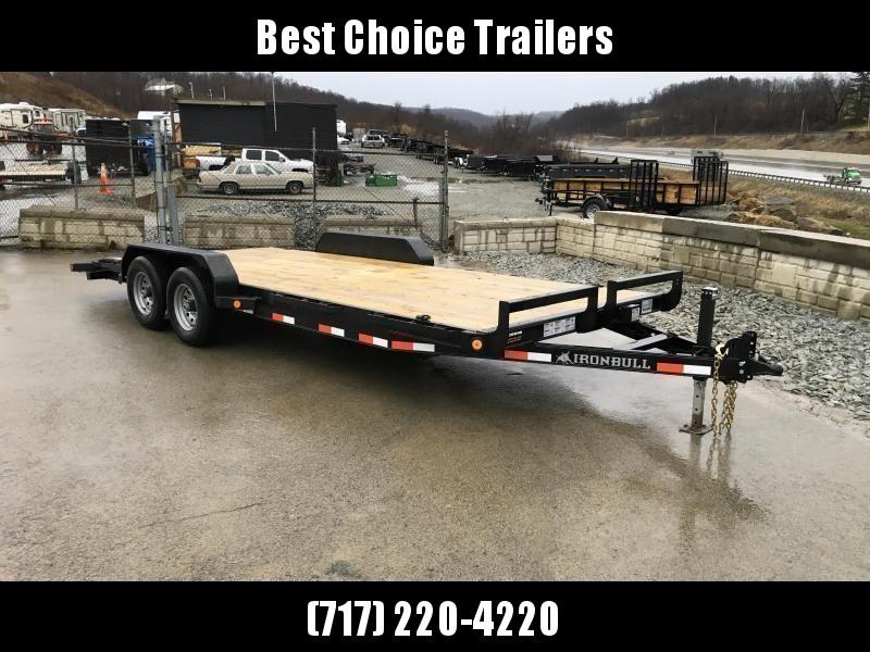 2018 Iron Bull 7x20' Wood Deck Car Trailer 9990# GVW * CLEARANCE - FREE ALUMINUM WHEELS