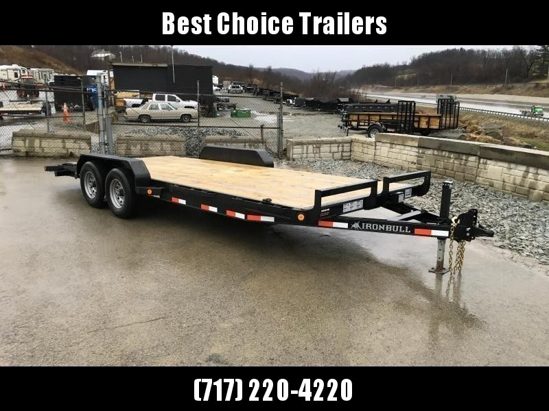 2018 Iron Bull 7x20' Wood Deck Car Trailer 9990# GVW * CLEARANCE - FREE ALUMINUM WHEELS