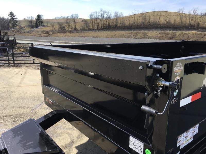 USED 2018 Iron Bull 7x12' Dump Trailer 14000# GVW RAMPS * TARP * SCISSOR * SPARE MOUNT