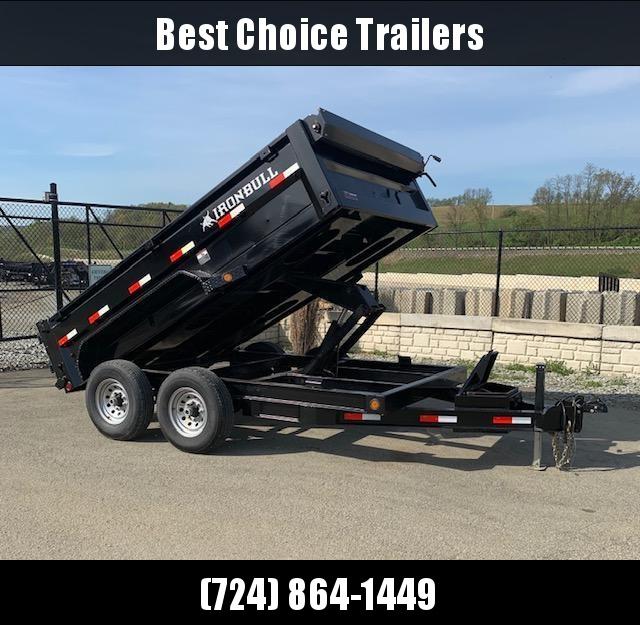 USED 2018 Iron Bull 7x12' Dump Trailer 14000# GVW RAMPS * TARP * SCISSOR * SPARE MOUNT in Ashburn, VA