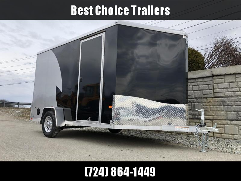 "2019 Neo 7x12 NAMR Aluminum Enclosed Motorcycle Trailer SINGLE AXLE 2990# GVW * VINYL WALLS * ALUMINUM WHEELS * +12"" HEIGHT UTV SPORTS PACKAGE"