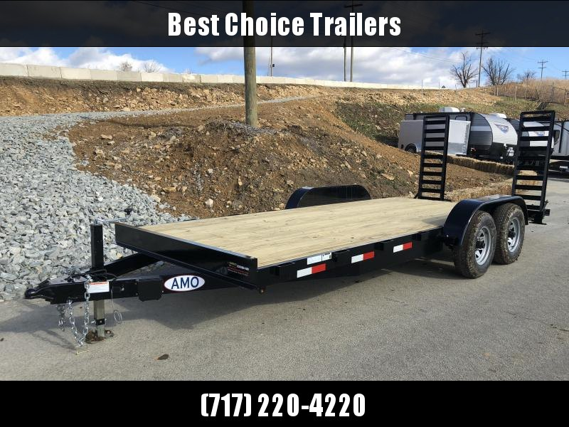 2018 AMO 7x18' Equipment Trailer 9990# GVW * CLEARANCE