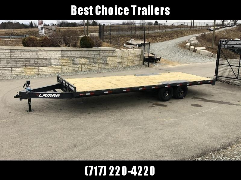 2019 Lamar F8 102x24' Flatbed Deckover Trailer 14000# GVW * CHARCOAL * 8' SLIDE IN RAMPS in Ashburn, VA
