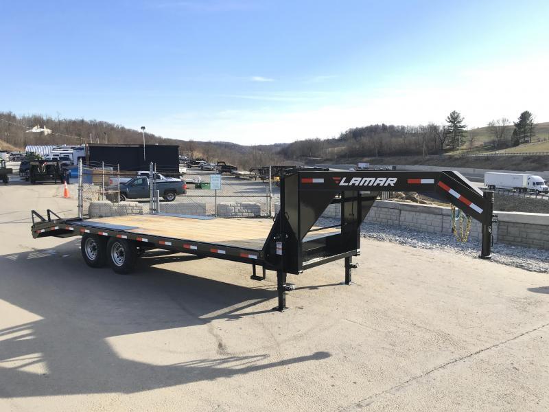 2018 Lamar 102x18+4' Gooseneck Beavertail Deckover Trailer 14000# STAND UP RAMPS * CLEARANCE