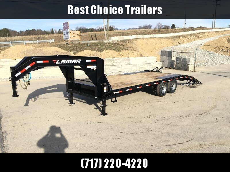 2018 Lamar 102x18+4' Gooseneck Beavertail Deckover Trailer 14000# STAND UP RAMPS * CLEARANCE