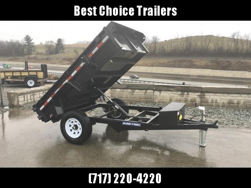 2019 Sure-Trac 5x8' Dump Trailer 5000# GVW BARN DOORS * CLEARANCE - FREE ALUMINUM WHEELS