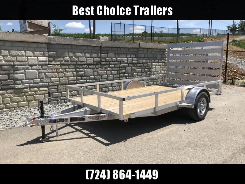 """2019 H&H 76""""x12' Aluminum Utility Trailer 2990# GVW * BI FOLD GATE"""