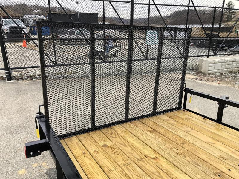 2019 AMO 7x12' Angle Iron Utility Landscape Trailer 2990# GVW w/ Gate * ATV RAMPS * FULL WRAP TONGUE * LED TAIL LIGHTS