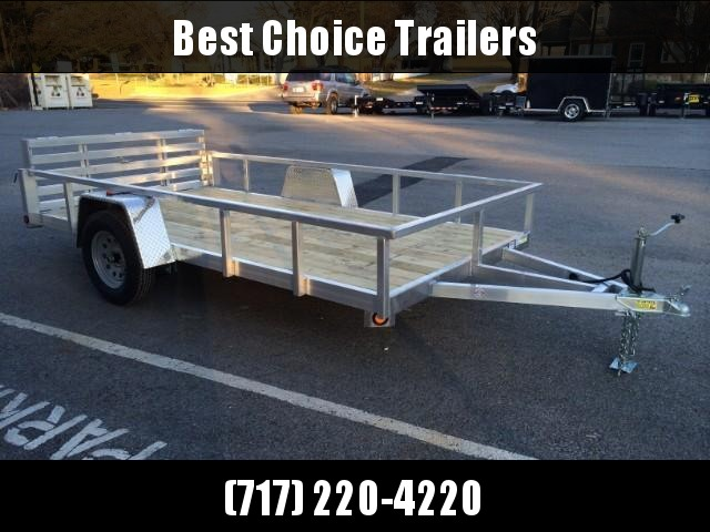 2018 QSA 6x12 Deluxe Aluminum Utility Trailer 2990# * DROP AXLES * HD TOPRAIL * BI-FOLD GATE * INTEGRATED FRAME * TUBE FRAME