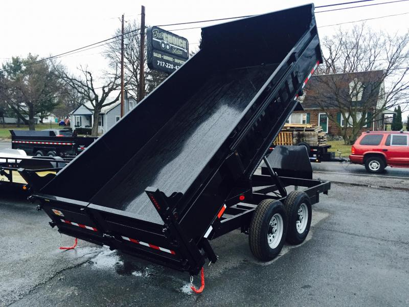 2018 QSA 7x14' Dual Ram Low Profile Dump Trailer 12000# Ramps * CLEARANCE - FREE ALUMINUM WHEELS