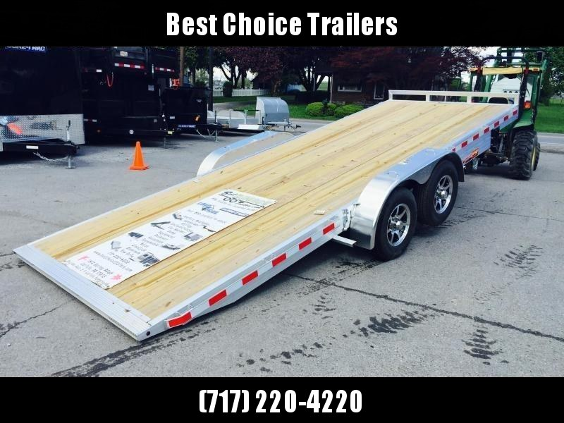 2018 H&H 7x20' Aluminum Power Tilt Car Trailer 14000# GVW * DROP AXLES * 2 TOOLBOXES